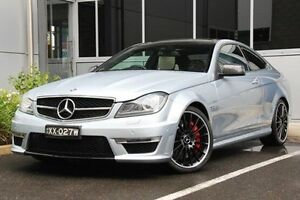 2013 Mercedes-Benz C63 C204 MY13 AMG SPEEDSHIFT MCT Silver 7 Speed Sports Automatic Coupe Hilton West Torrens Area Preview