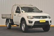 2015 Mitsubishi Triton MN MY15 GL White 5 Speed Manual Cab Chassis Hendra Brisbane North East Preview