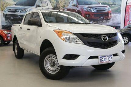 2012 Mazda BT-50 XT (4x2) White 6 Speed Automatic Dual Cab Utility Hillman Rockingham Area Preview