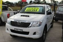 2013 Toyota Hilux KUN26R MY12 SR (4x4) White 4 Speed Automatic Dual Cab Pick-up South Maitland Maitland Area Preview