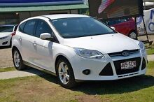 2011 Ford Focus LW Trend White 6 Speed Semi Auto Hatchback Capalaba West Brisbane South East Preview