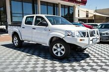 2012 Toyota Hilux KUN26R MY12 SR Double Cab White 4 Speed Automatic Utility Alfred Cove Melville Area Preview