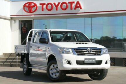 2012 Toyota Hilux KUN26R MY12 SR (4x4) White 5 Speed Manual Dual Cab Chassis Old Guildford Fairfield Area Preview