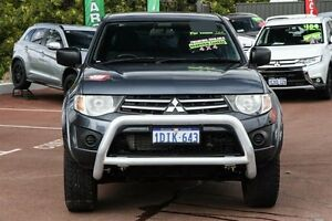 2010 Mitsubishi Triton MN MY10 GL-R Double Cab Grey 4 Speed Automatic Utility Cannington Canning Area Preview