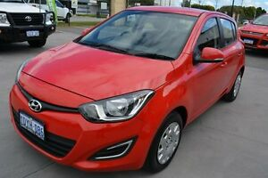 2012 Hyundai i20 PB MY12 Active Red 4 Speed Automatic Hatchback Welshpool Canning Area Preview