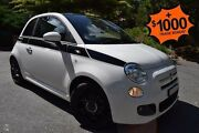 2014 Fiat 500 Series 3 S Dualogic White 5 Speed Sports Automatic Single Clutch Hatchback St Marys Mitcham Area Preview