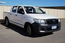 2012 Toyota Hilux TGN16R MY12 Workmate Double Cab White 4 Speed Automatic Utility Pearsall Wanneroo Area Preview