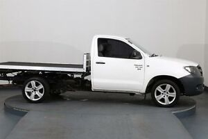 2005 Toyota Hilux GGN15R SR White 5 Speed Automatic Cab Chassis Smithfield Parramatta Area Preview