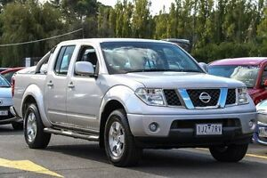 2011 Nissan Navara D40 ST Silver 6 Speed Manual Utility Ringwood East Maroondah Area Preview