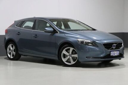 2013 Volvo V40 M D4 Luxury Blue 6 Speed Automatic Hatchback Bentley Canning Area Preview