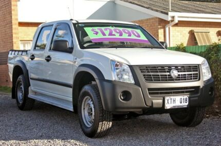 2007 Holden Rodeo RA MY08 LX Crew Cab White 5 Speed Manual Utility Glenelg East Holdfast Bay Preview