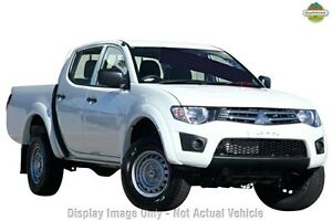 2011 Mitsubishi Triton MN MY11 GLX Double Cab White 4 Speed Automatic Utility Cannington Canning Area Preview