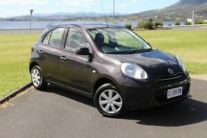 2014 Nissan Micra K13 Series 4 MY15 ST Black 4 Speed Automatic Hatchback Invermay Launceston Area Preview