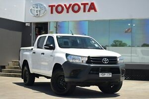 2015 Toyota Hilux GUN125R Workmate (4x4) Glacier White 6 Speed Automatic Dual Cab Utility Old Guildford Fairfield Area Preview