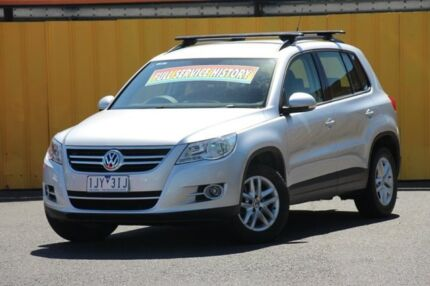 2010 Volkswagen Tiguan 5N MY10 125TSI 4MOTION Silver 6 Speed Sports Automatic Wagon Heatherton Kingston Area Preview