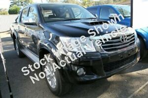 2013 Toyota Hilux KUN26R MY12 SR5 Double Cab Black 5 Speed Manual Utility Mill Park Whittlesea Area Preview