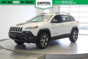 2015 Jeep Cherokee Trailhawk 4WD *Leather-Sunroof-V6*