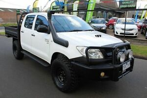 2008 Toyota Hilux KUN26R MY08 SR White 5 Speed Manual Utility West Footscray Maribyrnong Area Preview