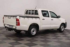 2012 Toyota Hilux TGN16R MY12 Workmate Double Cab White 5 Speed Manual Utility Edgewater Joondalup Area Preview