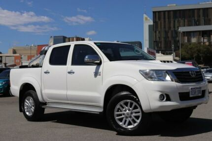 2014 Toyota Hilux KUN26R MY14 SR5 (4x4) Glacier White 5 Speed Automatic Dual Cab Pick-up Northbridge Perth City Area Preview