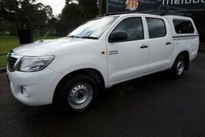 2012 Toyota Hilux KUN16R MY12 SR Double Cab 4x2 Glacier White 5 Speed Manual Utility Dandenong Greater Dandenong Preview