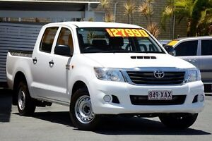 2015 Toyota Hilux KUN16R MY14 SR Double Cab White 5 Speed Manual Utility Kedron Brisbane North East Preview
