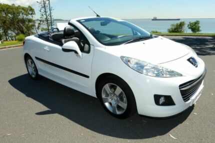 2011 Peugeot 207 A7 Series II MY10 CC Sportium White 5 Speed Manual Cabriolet