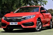2018 Honda Civic 10th Gen MY18 VTi Red 1 Speed Constant Variable Sedan Berwick Casey Area Preview