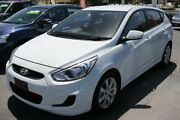 2017 Hyundai Accent RB6 MY18 Sport White 6 Speed Sports Automatic Hatchback Slacks Creek Logan Area Preview