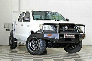 2008 Toyota Hilux KUN26R 08 Upgrade SR (4x4) White 5 Speed Manual Dual Cab Pick-up Burleigh Heads Gold Coast South Preview