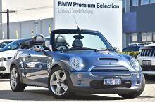 2005 Mini Cabrio R52 MY05 Cooper S Blue 6 Speed Manual Convertible Victoria Park Victoria Park Area Preview