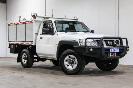 2011 Nissan Patrol DX DX White Manual Cab Chassis - Single Cab