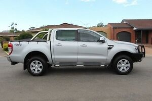 2013 Ford Ranger PX XLT Double Cab Silver 6 Speed Manual Utility Nailsworth Prospect Area Preview