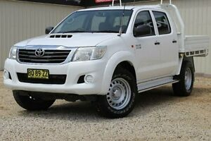 2012 Toyota Hilux KUN26R MY12 SR (4x4) Glacier White 4 Speed Automatic Dual Cab Pick-up Windradyne Bathurst City Preview