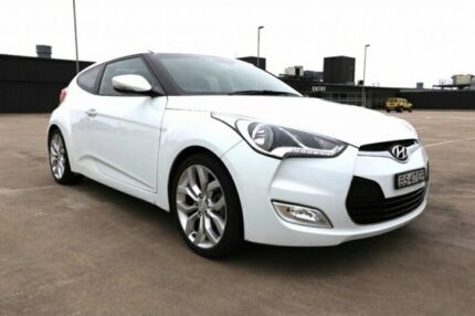 2012 Hyundai Veloster FS Coupe D-CT White 6 Speed Sports Automatic Dual Clutch Hatchback
