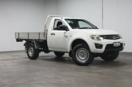 2013 Mitsubishi Triton MN MY13 GLX White 5 Speed Manual Cab Chassis Welshpool Canning Area Preview