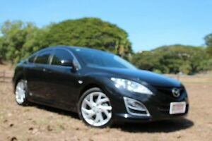 2011 Mazda 6 GH MY11 Luxury Sports Black 5 Speed Auto Activematic Hatchback The Gardens Darwin City Preview