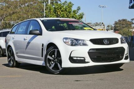 2016 Holden Commodore VF II MY16 SV6 Sportwagon Black White 6 Speed Sports Automatic Wagon Kirrawee Sutherland Area Preview