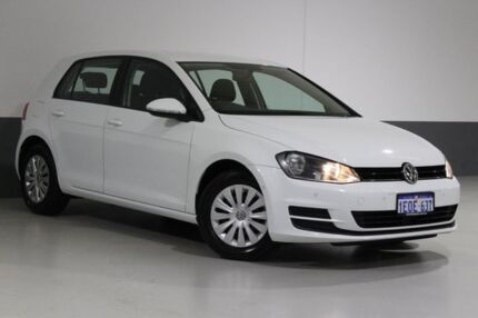 2014 Volkswagen Golf AU MY14.5 90 TSI White 7 Speed Auto Direct Shift Hatchback Bentley Canning Area Preview