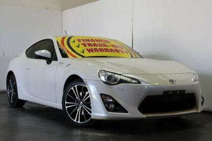 2013 Toyota 86 ZN6 GTS White 6 Speed Auto Sequential Coupe