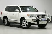 2014 Toyota Landcruiser VDJ200R MY13 Sahara (4x4) White 6 Speed Automatic Wagon Bentley Canning Area Preview