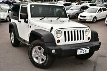 2012 Jeep Wrangler JK MY2012 Sport White 5 Speed Automatic Softtop Myaree Melville Area Preview