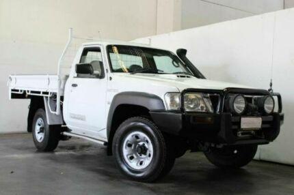 2010 Nissan Patrol GU 7 MY10 DX SINGLE CAB White Manual Utility Underwood Logan Area Preview