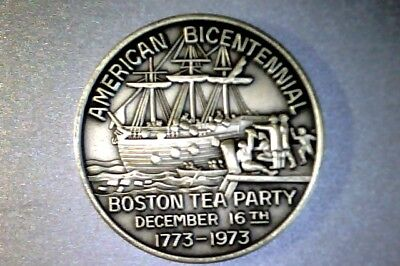 1973 Sterling Boston Tea Party 200th AMERICAN BICENTENNIAL. City Hall - Party City Sterling