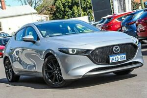 2019 Mazda 3 BP2HLA G25 SKYACTIV-Drive Astina Silver 6 Speed Sports Automatic Hatchback Bayswater Bayswater Area Preview