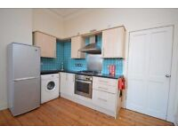 Fantastic 1 bed + box room flat off Easter Road with street parking available February - NO FEES!