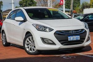 2013 Hyundai i30 GD Active White 6 Speed Sports Automatic Hatchback Myaree Melville Area Preview