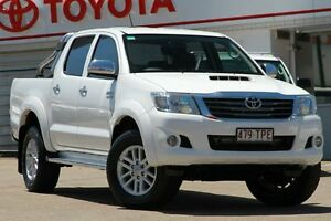 2013 Toyota Hilux KUN26R MY12 SR5 Double Cab White 4 Speed Automatic Utility Woolloongabba Brisbane South West Preview