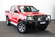 2015 Toyota Hilux KUN26R MY14 SR Double Cab Velocity Red 5 Speed Manual Utility Rockingham Rockingham Area Preview
