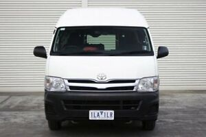 2012 Toyota Hiace TRH223R MY12 Commuter High Roof Super LWB White 4 Speed Automatic Bus